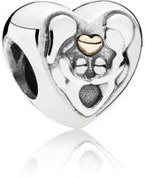 Pandora Heart Of The Family Charm - Two Tone / Gold / Sterling Silver