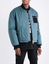 Raf Simons Embroidered-patch cotton-twill bomber jacket