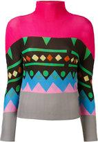 Issey Miyake geometric print jumper - women - Polyester - One Size