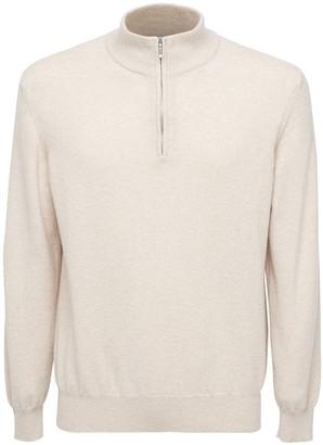 Loro Piana Classic Cashmere Zip Sweater
