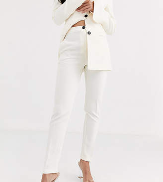 Asos Tall DESIGN Tall pop slim suit trousers in white