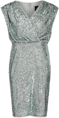 Adrianna Papell Sequin Blouson Sheath Dress