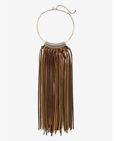 Express chain and (Minus the) leather fringe necklace