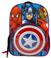 """Marvel Captain America 16"""" Kids' Backpack with Removable Shield"""