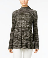 Style&Co. Style & Co. Petite Mock-Neck Cable-Knit Swing Sweater, Only at Macy's