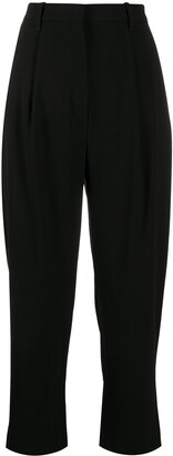 Kenzo High-Rise Straight-Leg Cropped Trousers