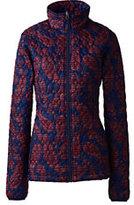 Lands' End Women's Petite Packable Primaloft Jacket-Bluebelle Floral