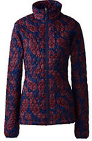 Lands' End Women's Petite Packable Primaloft Jacket-Mariners Paisley