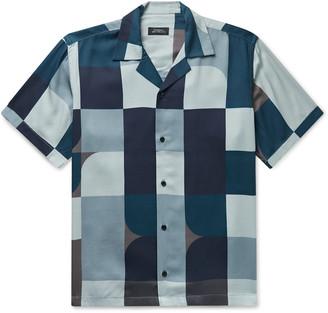 Saturdays NYC Canty Camp-Collar Colour-Block Lyocell-Twill Shirt
