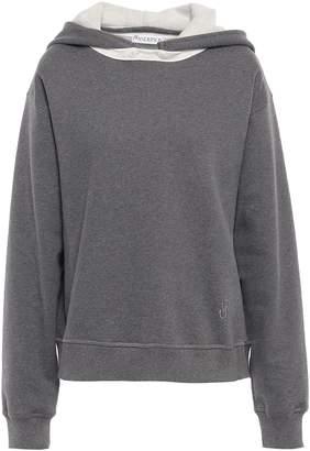 J.W.Anderson Melange Cotton-fleece Hooded Sweatshirt