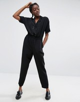Monki Tailored Eyelet Detail Jumpsuit
