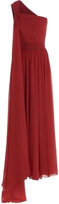 Elie Saab One-Shoulder Draped Dress