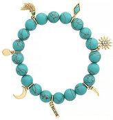Jessica Simpson Turquoise Charm Stretch Bracelet