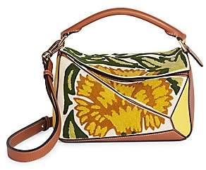 Loewe Women's William De Morgan Mini Puzzle Floral Leather Bag