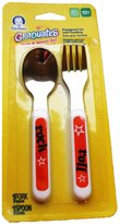 Gerber Graduates Spoon and Fork Set 12+ Months (Rock and Roll Orange)
