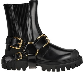 Dolce & Gabbana Buckle-Detailed Ankle Boots