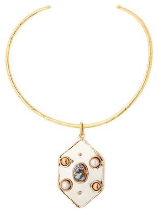 Sylvia Toledano - Abalone And Pearl-embellished Choker - Womens - Blue