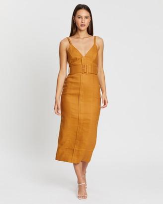 Shona Joy Eames Fitted Midi Dress