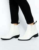 ASOS ATONEMENT Leather Chelsea Ankle Boots - White