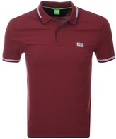 BOSS GREEN Paul Polo T Shirt Red