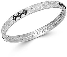 Armenta Sterling Silver New World Champagne Diamond Crivelli Bangle Bracelet