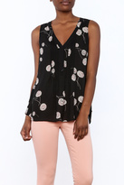 Daniel Rainn Black Sleeveless Blouse