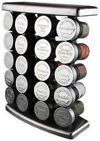 Olde Thompson 20 Jar Embossed Stainless Steel Spice Rack