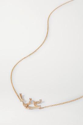 Sebastian Celestial Aquarius 10-karat Gold Diamond Necklace - one size