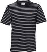 Farah Mens Kimmeridge Stripe T-Shirt True Navy