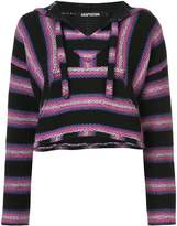Adaptation striped hooded jumper