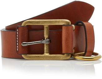 Yuketen Stitched D-ring Leather Belt
