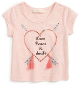 Truly Me Infant Girl's Love Peace Smile Tee