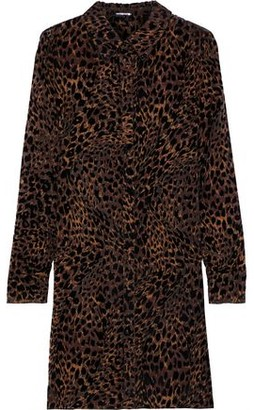 Elie Tahari Juliet Leopard-print Devore-velvet Mini Dress
