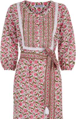 Pink City Prints - Organic Cotton Rose Mogul Midi - M/L | organic cotton