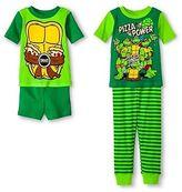 Nickelodeon Teenage Mutant Ninja Turtles Toddler Boys' 4-Piece Pajama Set Green