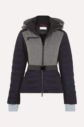 Erin Snow Kat Color-block Quilted Merino Wool-blend Ski Jacket - Navy