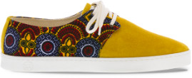 Panafrica - African Wax and Suede Sneakers - 41