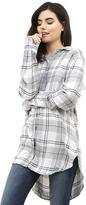 Bella Dahl Halle Shirt in Heather Grey