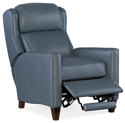 """Thumbnail for your product : Bradington-Young 30.5"""" Wide Standard Recliner Body Fabric: Unforgettable Baltic, Leg Color: Mahogany, Reclining Type: Power"""