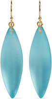 Alexis Bittar Gold-tone enamel and lucite earrings