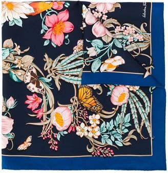 Salvatore Ferragamo Floral-Print Scarf