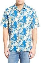 Tommy Bahama 'Byron Blooms' Regular Fit Short Sleeve Silk & Cotton Camp Shirt