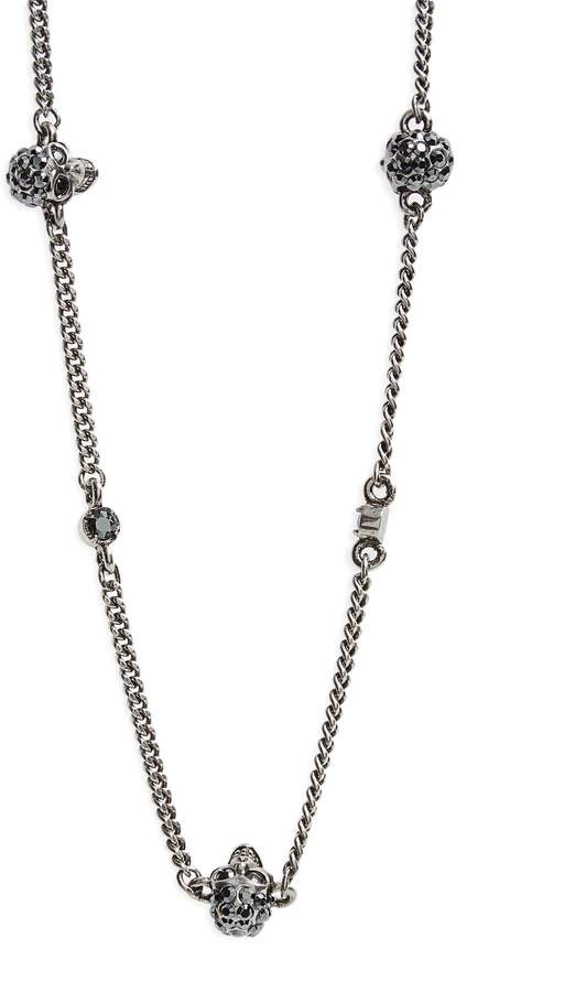 Alexander McQueen Skull Short Necklace