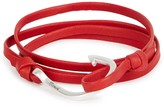 Miansai Red Hook Leather Wrap Bracelet