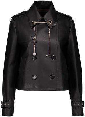 Coliac Pleated back leather jacket