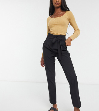 New Look Tall tie waist pant in black