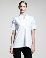 Jil Sander Nube Half-Sleeve Tunic, White