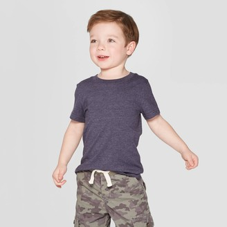 Cat & Jack Toddler Boys' Short Sleeve Solid T-Shirt - Cat & JackTM Navy