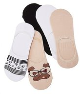 Charlotte Russe Assorted Pug Shoe Liners - 5 Pack