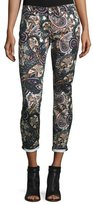 7 For All Mankind The Ankle Skinny Printed Jeans, Underground Paisley